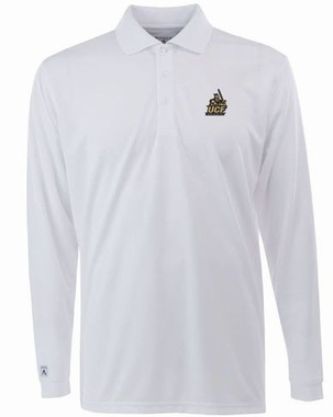 Central Florida Mens Long Sleeve Polo Shirt (Color: White)