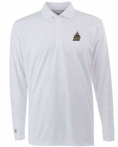 Central Florida Mens Long Sleeve Polo Shirt (Color: White) - Medium