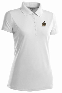 Central Florida Womens Pique Xtra Lite Polo Shirt (Color: White)
