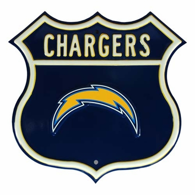 Chargers W Chargers Logo Street Sign