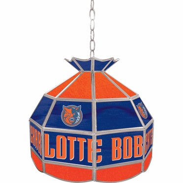 Charlotte Bobcats 16 Inch Diameter Stained Glass Pub Light