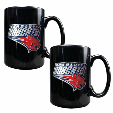 Charlotte Bobcats 2 Piece Coffee Mug Set