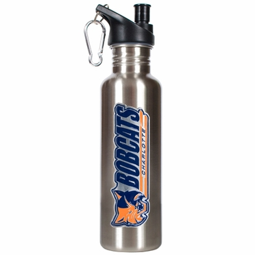 Charlotte Bobcats 26oz Stainless Steel Water Bottle (Silver)
