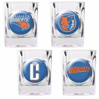 Charlotte Bobcats 4 Piece Assorted Shot Glass Set