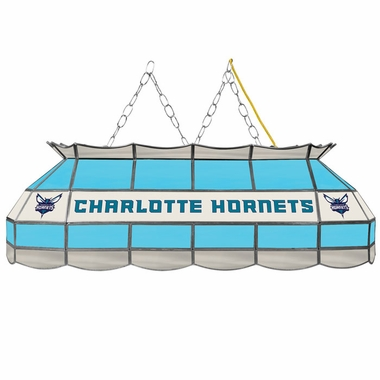 Charlotte Hornets 40 Inch Rectangular Stained Glass Billiard Light