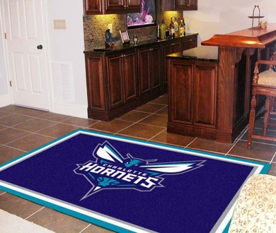 Charlotte Hornets 5 Foot x 8 Foot Rug