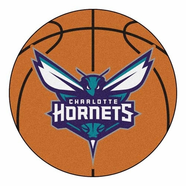 Charlotte Hornets Basketball Shaped Rug