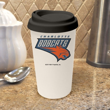 Charlotte Bobcats Ceramic Travel Cup