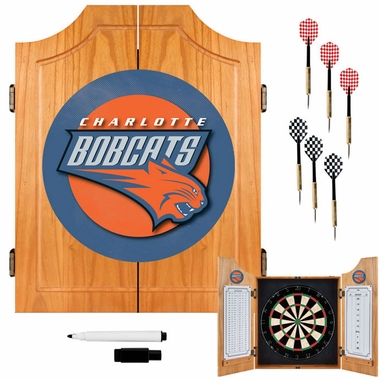Charlotte Bobcats Complete Dart Cabinet