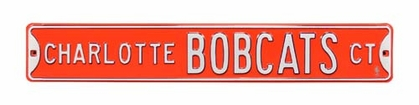 Charlotte Bobcats Ct. Street Sign
