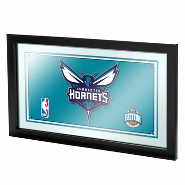 Charlotte Hornets Framed Logo Bar Mirror