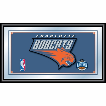 Charlotte Bobcats Framed Logo Bar Mirror
