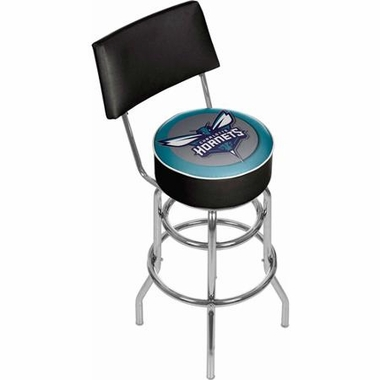 Charlotte Hornets Padded Bar Stool with Back