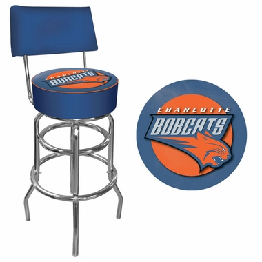 Charlotte Bobcats Padded Bar Stool with Back