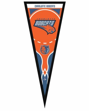 "Charlotte Bobcats Pennant Frame -13"" x 33"" (No Glass)"