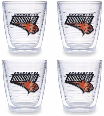 Charlotte Bobcats Set of FOUR 12 oz. Tervis Tumblers