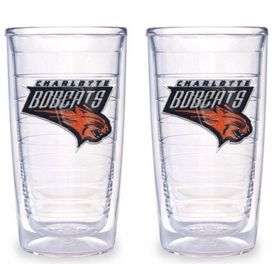 Charlotte Bobcats Set of TWO 16 oz. Tervis Tumblers