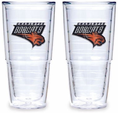 Charlotte Bobcats Set of TWO 24 oz. Tervis Tumblers