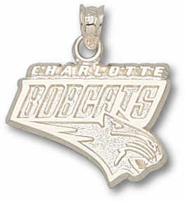Charlotte Bobcats Sterling Silver Pendant