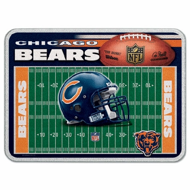 Chicago Bears 11 x 15 Glass Cutting Board