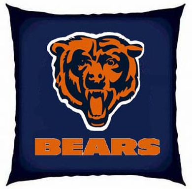 Chicago Bears 15 Inch Applique Pillow