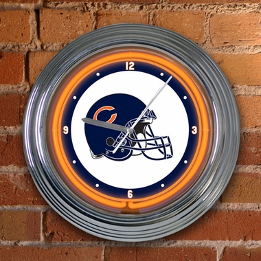 Chicago Bears 15 Inch Neon Clock