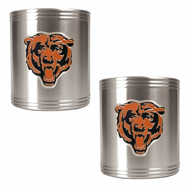 Chicago Bears 2 Can Holder Set
