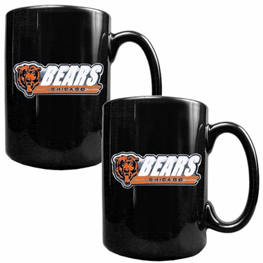 Chicago Bears 2 Piece Coffee Mug Set (Wordmark)