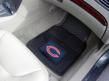 Chicago Bears 2 Piece Heavy Duty Vinyl Car Mats