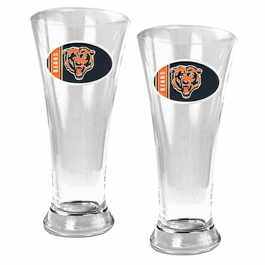 Chicago Bears 2 Piece Pilsner Glass Set