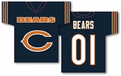 Chicago Bears 2 Sided Jersey Banner Flag (F)