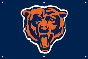 Chicago Bears 2 x 3 Horizontal Applique Fan Banner