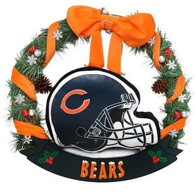"Chicago Bears 20"" Helmet Door Wreath"