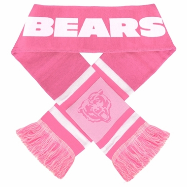 Chicago Bears 2012 Ladies Pink Team Stripe Knit Scarf