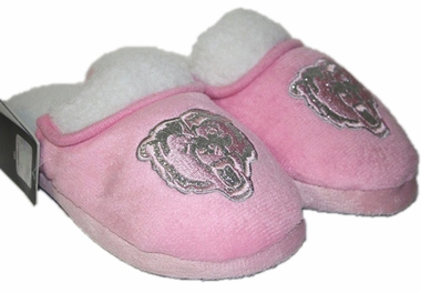 Chicago Bears 2012 Womens Pink Sherpa Glitter Slippers
