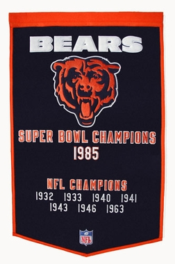 "Chicago Bears 24""x36"" Dynasty Wool Banner"