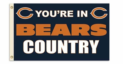 Chicago Bears 3' x 5' Flag (Country) (F)
