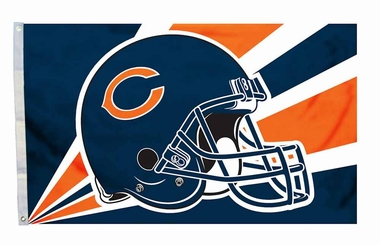 Chicago Bears 3'x5' Helmet Design Flag