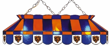Chicago Bears 40 Inch Rectangular Stained Glass Billiard Light