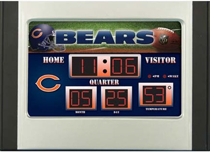 Chicago Bears Alarm Clock Desk Scoreboard