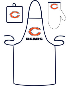 Chicago Bears Apron and Mitt Set