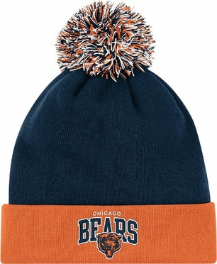 Chicago Bears Arched Logo Vintage Cuffed Pom Hat