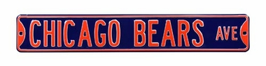 Chicago Bears Ave Street Sign