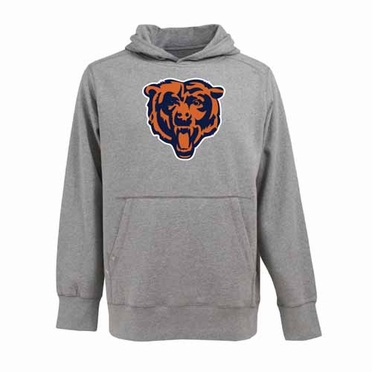 Chicago Bears Big Logo Mens Signature Hooded Sweatshirt (Color: Gray)