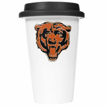 Chicago Bears Ceramic Travel Cup (Black Lid)