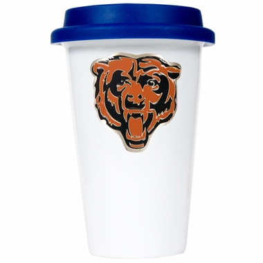 Chicago Bears Ceramic Travel Cup (Team Color Lid)