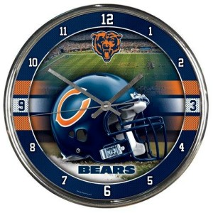 Chicago Bears Round Chrome Wall Clock