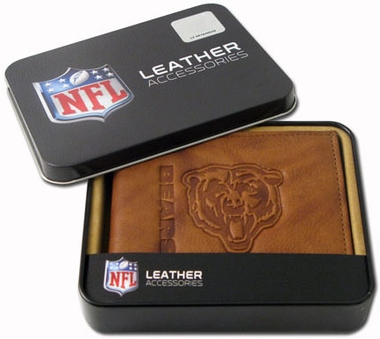 Chicago Bears Embossed Leather Bifold Wallet