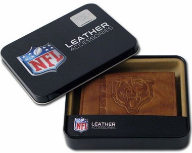 Chicago Bears Embossed Leather Trifold Wallet