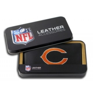 Chicago Bears Embroidered Leather Checkbook Cover